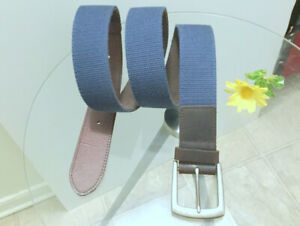 Belt (Genuine Leather Lining) (s.42) Men's Boys NEW Buckle