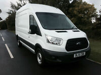 2015 15 FORD TRANSIT VAN 350 2.2TDCI HIGH ROOF 125BHP L3H3 1 COMPANY OWNER