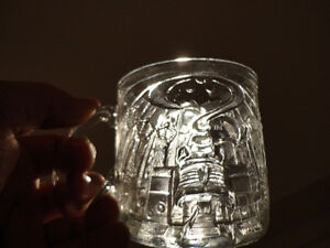 Three Glass Sculpted 3D Collectible Mugs - Batman McDonalds Mugs Kitchener / Waterloo Kitchener Area image 5