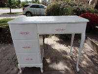 Kids White Dresser/ Desk. Needs some cosmetic Work done