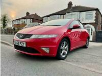 2009 HONDA CIVIC 5DOORS-SI 1.4,TWO OWNERS,LEATHER INTERIOR,ALLOYS,MOT 26-10-2021
