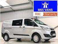 FORD TRANSIT CUSTOM TREND 125PS 330 L2H1 IDEAL CAMPER DAY VAN TOP SPEC LWB SILVE