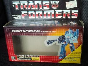 Vintage G1 Transformers Blurr with box complete