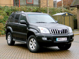 2005 05 Toyota Land Cruiser 3.0 D-4D LC5 5dr WITH 7 SEATS+SATNAV+LEATHER+SUNROOF
