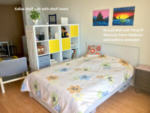 Out of country moving sell: bed frame and mattress