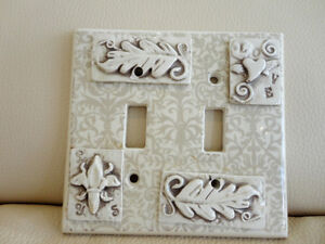 Heavy Ceramic Decorative Double Switch Plate Cover - Looks great
