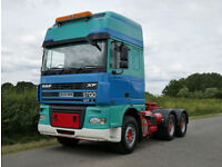 DAF XF 95.530 6 X 4 Double Drive with Hub Reduction 200 Ton GTW Tractor Unit