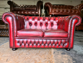 Oxblood Chesterfield 2 Seater Sofa