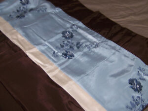 BLUE/BROWN/BEIGE CURTAIN SETS (2) - NEW IN PACKAGES