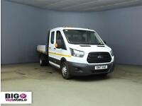 "2017 FORD TRANSIT 350 TDCI 130 L3 H2 LWB 7 DOUBLE CAB ""ONE STOP"" ALLOY TIPPER DR"