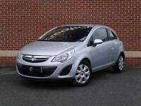 2013 13 Vauxhall Corsa 1.2 i 16v Exclusiv 3dr (Silver, Petrol)