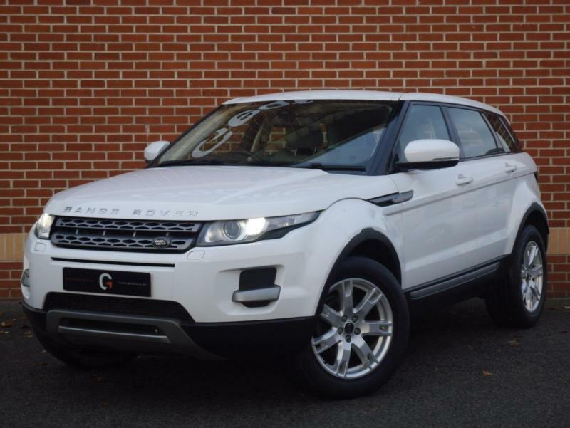 2013 13 land rover range rover evoque 2 2 sd4 pure tech awd white diesel in ripley. Black Bedroom Furniture Sets. Home Design Ideas