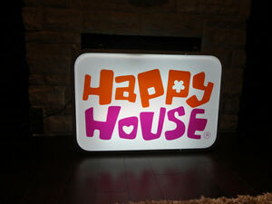 ONE OF A KIND Happy House Dual Sided Fluorescent Hanging Sign Kitchener / Waterloo Kitchener Area image 1
