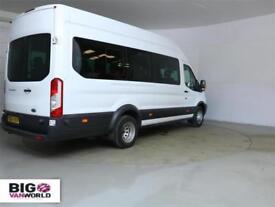2014 FORD TRANSIT 460 TDCI 125 L4 H3 TREND 17 SEAT BUS HIGH ROOF DRW RWD MINIBUS