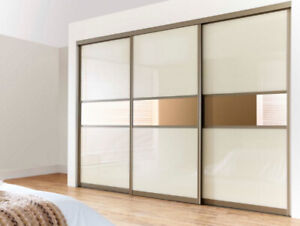 Custom sliding doors for closets, rooms and wardrobes .