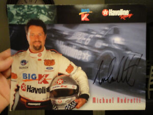 """Autographed Michael Andretti 8.5 x11"""" Colour Picture Card Kitchener / Waterloo Kitchener Area image 4"""