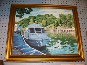 Port Dover Harbour near Maritime Museum Acrylic Painting 16x20