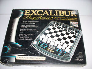 Excalibur King Master II Chess/Checkers Computer w box, manual