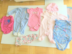 Baby Girl Cute Clothes (3-6 m.) (7 Item. $2.00 ea.) Jumpers, Pan