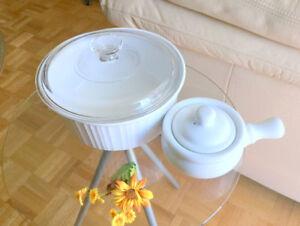 DISH (2.5 L) Casserole Round Corning French White Round