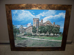 Framed 16x20 Acrylic Painting of the Brantford Armouries 2007
