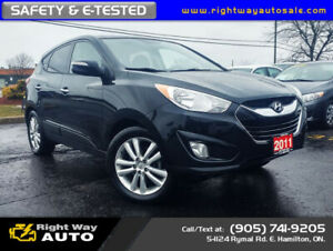 2011 Hyundai Tucson Limited | AWD | SAFETY & E-TESTED