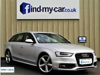 2013 13 Audi A4 Avant 2.0TDI ( 143ps ) S Line With FSH & NAV