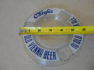 One Vintage Glass Okeefe Old Vienna Brewerania Ashtray Kitchener / Waterloo Kitchener Area image 3