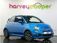 2014 Fiat 500 1.2 S 2dr Petrol blue Manual