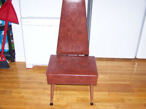 FUNKY LEATHER CHAIR - REDUCED FROM $100 T0 $85