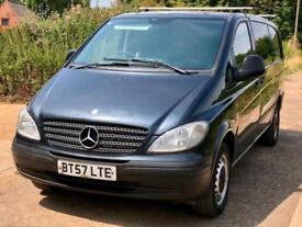 Mercedes-Benz Vito 2.1TD Long 111CDI 2007 Metallic Black 6 seat Combi Dualliner