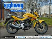 2016 Honda CB 125 F CBT Learner Legal Motorcycle with Warranty & 12 Month MOT