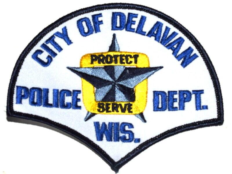 DELAVAN WISCONSIN WI Sheriff Police Patch BLUE STAR ~