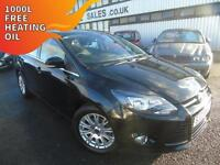 2011 Ford Focus 1.6TDCi Titanium - Black - 12 months MOT + Platinum Warranty!