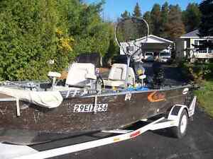 EXC FISHING BOAT MOTOR AND TRAILER