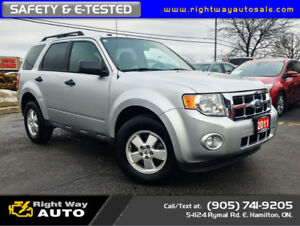 2011 Ford Escape XLT   LOW KMS   SAFETY & E-TESTED