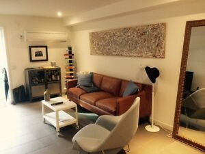 College / Ossington, new bright 1 bed/den bsm WALKOUT, lil Italy