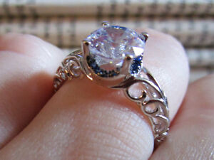 Engagement/promise ring.  sterling silver