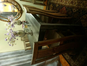 Dining Room set for sale 6 chairs wood - block table, moving