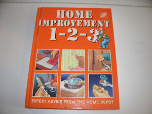 Home Depot Home Improvement 1-2-3 Book. Hard Cover.