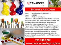 Beginner's Art Classes, Canadore College, Parry Sound