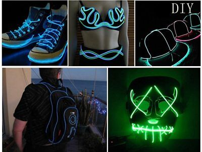 LED Strip Neon Light Car Dance Party Decor Flexible EL Glow Wire Rope Waterproof - Neon Dance Decorations