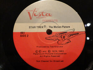 Vintage Star Trek 33 1/3 rpm Record w/ 24 page Read Along Book Kitchener / Waterloo Kitchener Area image 4