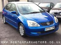 2005 HONDA CIVIC 1.7i CTDi SE 12 stamp history new MOT