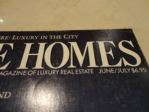 Vintage 1987 Unique Homes -The Magazine of Luxury Real Estate Kitchener / Waterloo Kitchener Area image 2