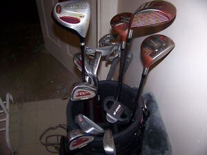 Awesome Golf Clubs with Great bag and Pullcart