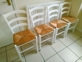 4 X Basket Weave Kitchen Chairs