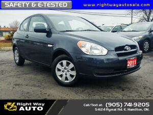 2011 Hyundai Accent SE Coupe | LOW KMS | SAFETY CERTIFIED