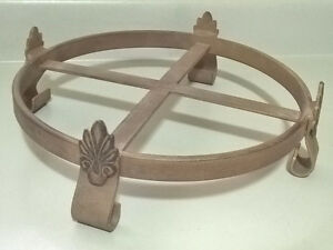 """Wrought Iron Rustic 10"""" Plant Stand"""