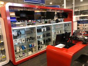 Comptoir et meuble pour boutique, comptoir caisse ETC.